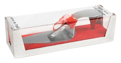 Ruby Red High Heel Cake Server