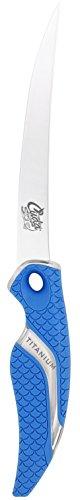 Cuda 6-Inch Titanium Bonded Curved Boning Knife, Blue