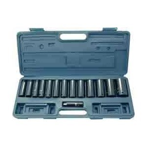 15-Piece 1/2-Inch Drive Deep Impact Socket Set, SAE by Neiko