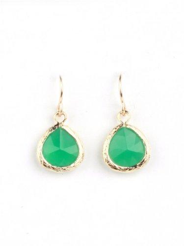 Andrea Tedesco Calypso Drop Earrings - Green