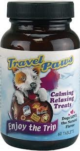Lidtke Technologies Travel Paws L-Tryptophan Pet Relaxant Tablets, 60 Tablets