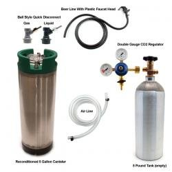 Homebrew Keg Kit with 5 Gallon Tank