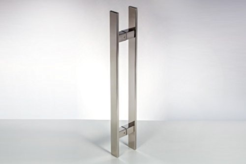 Modern contemporary 18 inches square rectangle flat shape for 18 inch interior glass door
