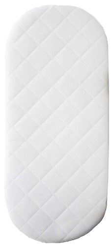 Babies Firsts 66x28x4cm Quilted Foam Moses Basket or Pram Mattress Rounded Both Ends