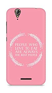 AMEZ people who love to eat are always the best people Back Cover For Acer Z630S