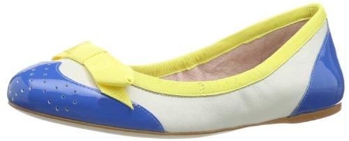 Fornarina - Ballerine, Donna, Multicolore (Mehrfarbig (cyano/yellow/white A600)), 38
