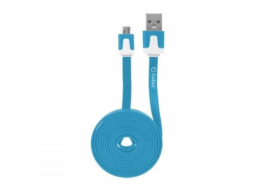 Huawei Ascend G7 Blue Flat Style Shielded Data Cable