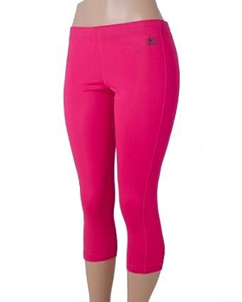 adidas Women's Pursuit Three quarter Tight, Bright Pink/Black, Large