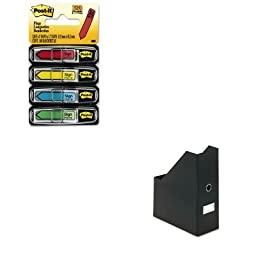 KITIDESNS01637MMM684SH - Value Kit - Snap-n-store Heavy-Duty Fiberboard Magazine File with PVC Laminate (IDESNS01637) and Post-it Arrow Message 1/2amp;quot; Flags (MMM684SH)