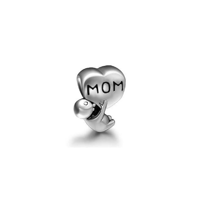 Baby Hold A Mom Love Heart Charm