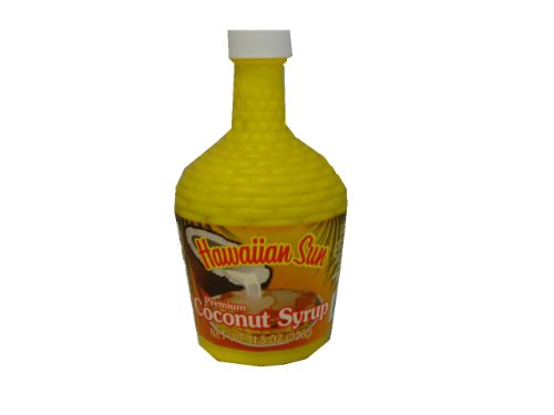 Hawaiian Sun Premium Coconut Syrup, 11.5-Ounce Jars (Pack of 4)