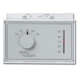 White Rodgers 1F56N-444 Single Stage Universal Horizontal Setpoint Thermostat