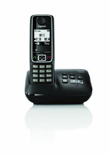 Gigaset A420A Single DECT Cordless Phone with Answer Machine - Black