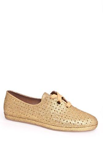 Mel Lime Glitter Casual Flat Shoe