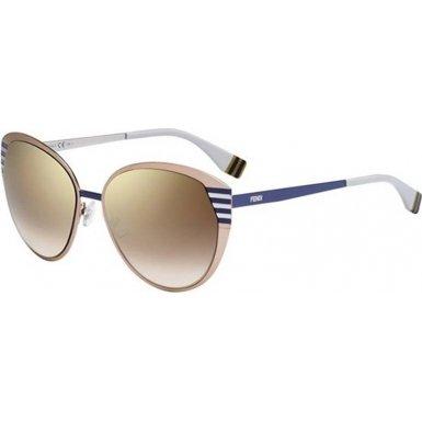 Fendi 2474677Rw58Qh Ladies Ff 0017-S 7Rw Qh Peach Silver Sunglasses