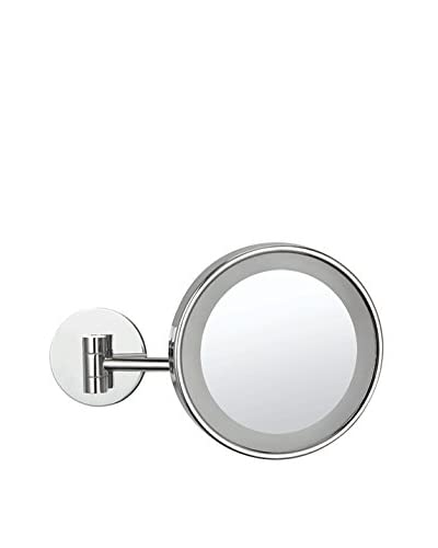 Nameeks Wall Mounted Single Face 3X LED Makeup Mirror, Chrome Finish