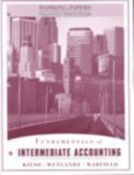 Fundamentals of Intermediate Accounting, Working Papers