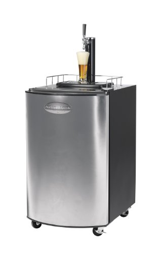 Nostalgia Electrics KRS-2150 Kegorator Beer Keg Fridge, Stainless Steel