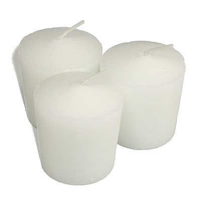 Tapered 15 Hour (Bulk Wholesale) White Votive Candles Qty 144