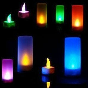 eFuture(TM) Birthday Electronic Light Automatic Voice Control LED Candle Light ,One Can Change 7 Color +eFuture's nice Keyring