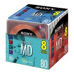 Sony 80 Minute MiniDisc MD Color (8-Pack)