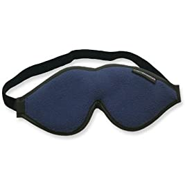 Escape Luxury Sleep Mask with Earplugs and Travel Pouch (Navy Blue)