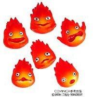 Cominica Howl's Moving Castle -Petit model Collection-Calcifer Figure 6pcs set - 1