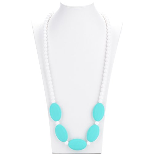Consider It Maid Baby/Toddler Silicone Teething Necklace - Turquoise - Mix It Up Collection