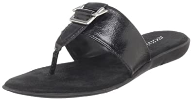 Aerosoles Women's Savvy Thong Sandal,Black Patent,5 M US
