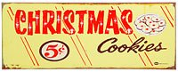 Christmas Cookies Vintage Style Tin Sign