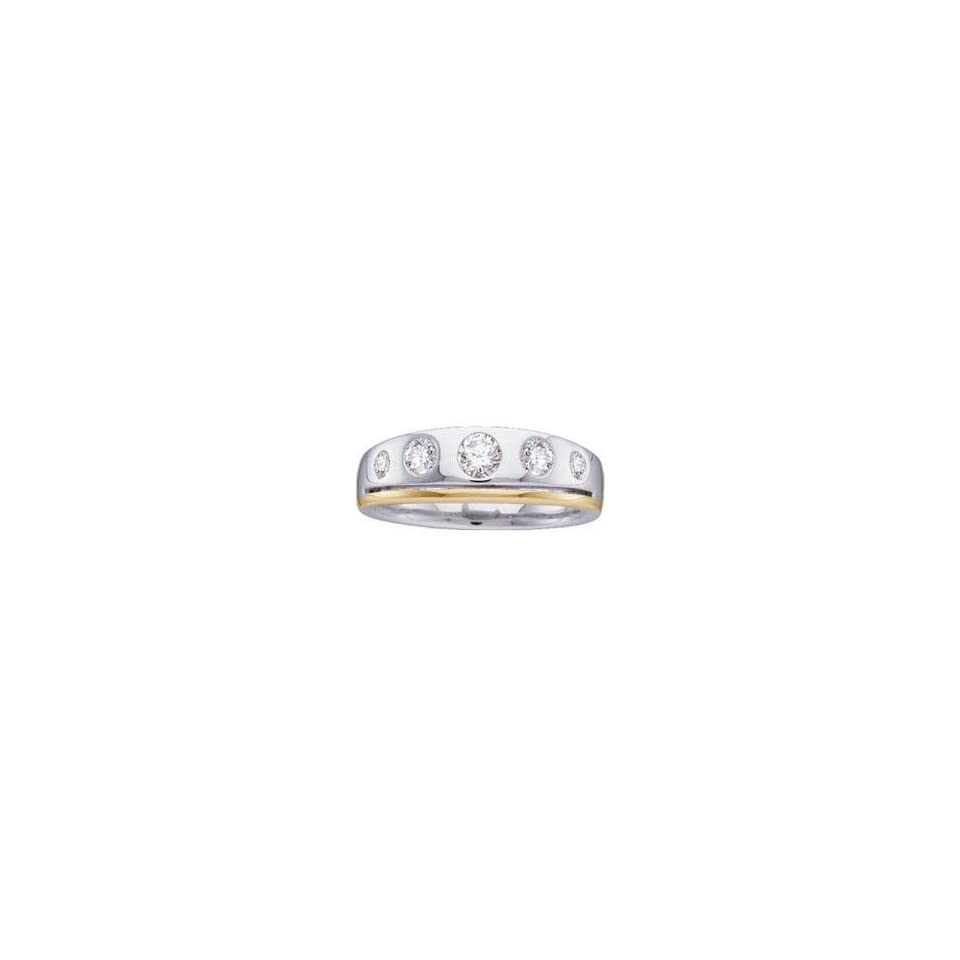 14k Two Tone Gold Diamond Bridal Duo Ring