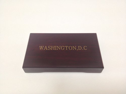 Cherry Wood Double Coin Case - 1