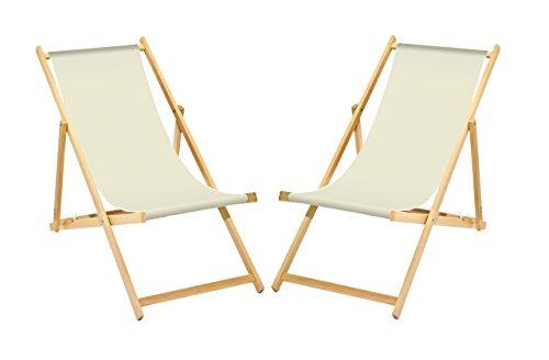 2-x-Liegestuhl-Holz-Wei-ohne-Armlehne-klappbar-mit-wechselbaren-Stoffbezug