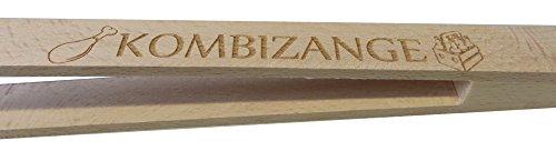 Kaltner präsente porte-bouteille pince universelle en bois naturel avec ouverture