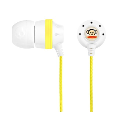 Skullcandy INK'd Paul Frank Earbuds S2INCZ-053 (White/Yellow)