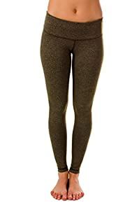 90 Degree by Reflex Power Flex Yoga Pants - Heather Hunter Green - Large