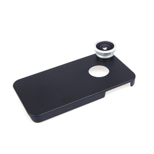 New Arrival!!! Limited Sale!!! New 180°Fish Eye Lens Detachable With Back Cover Case For Iphone 4 4S New In Cell Phones