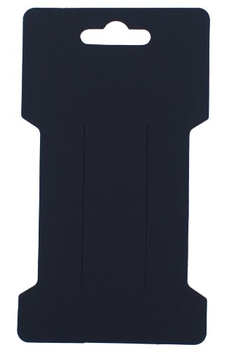 Trimweaver 100-Piece Rectangular Hair Clip Display Cards, Satin Black (Hair Display Cards compare prices)