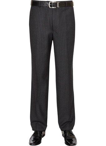 Austin Reed Regular Fit Charcoal Stripe Trouser LONG MENS 34