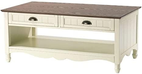 """Southport Coffee Table, 18""""HX42""""WX24"""", IVORY AND OAK"""