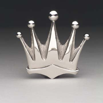Silver Star Chrome KING CROWN Belt Buckle