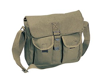 Military Cotton Canvas Ammo Shoulder Messenger Bag