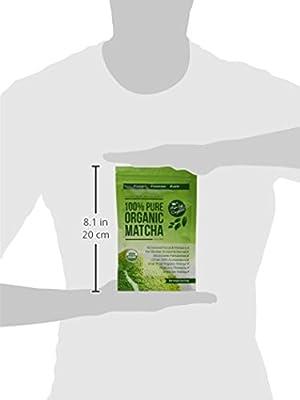 USDA Bio Matcha Grüntee-Pulver - Natürliches Nahrungsergänzungsmittel zur Gewichtsabnahme und Entgiftung - Stoffwechsel-Booster & Fettverbrenner - Großartig für Smoothies, Shakes und zum Backen - 113 Gramm Nutzmenge von Matcha Organics auf Gewürze S