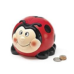 Adorable Ladybug Lady Bug Piggy Bank