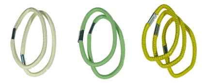 Haargummi Set 7-teilig, Lt.yellow/lt.green/yellow (C4)