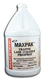 Steamway International - MaxPak Traffic Lane Cleaner Prespray - High Powered Alkaline Preconditioning Agent for Synthetic Carpet - 1 Gallon - 8931000