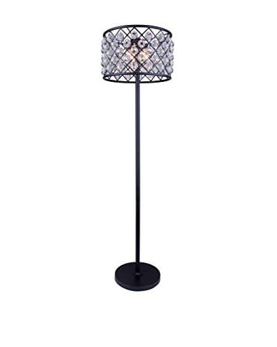Urban Lights Madison 4-Light Floor Lamp, Mocha Brown/Royal Cut Crystal