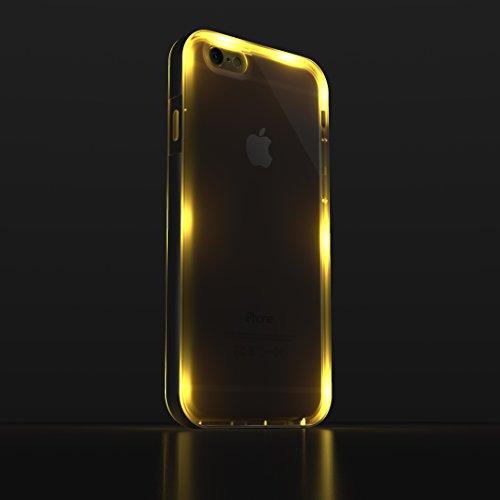 Iphone 6 Led Flashing Case, Mota Ultra-Thin Illuminating Case Cover - Silver