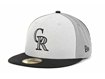 Colorado Rockies Men's Hat Cap New Era 59Fifty 3G Block Dark Grey (7 3/4)