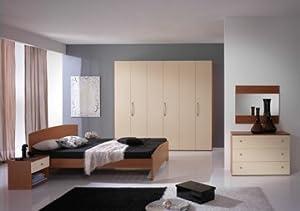 Camera letto sofia armadio 4 ante color ciliegio crema 2 - Cassettiera a specchio mercatone uno ...